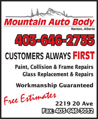 Mountain Auto Body (403-646-2735) - Display Ad