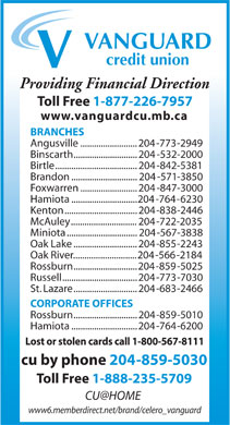 Vanguard Credit Union (204-571-3850) - Annonce illustrée