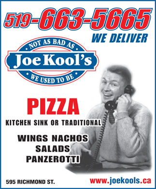 Joe Kool's (519-663-5665) - Display Ad