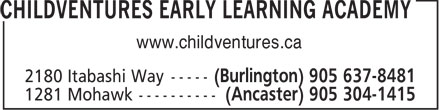 Childventures Early Learning Academy (289-812-4232) - Display Ad - www.childventures.ca