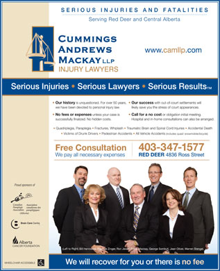 Cummings Andrews Mackay LLP (403-406-0187) - Annonce illustrée