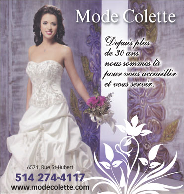 Mode Colette (514-274-4117) - Display Ad