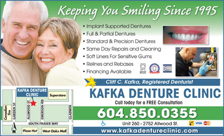 Kafka Denture Clinic (604-850-0355) - Display Ad
