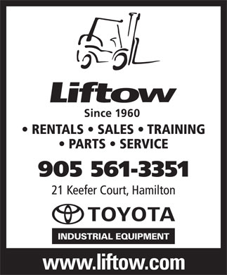 Liftow Ltd (905-561-3351) - Display Ad