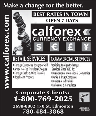 Calforex exchange fees