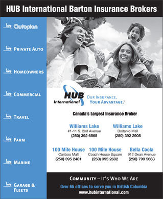 HUB International Barton Insurance Brokers (250-392-6565) - Display Ad