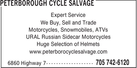Peterborough Cycle Salvage (705-742-6120) - Display Ad