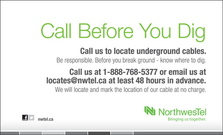 Call Before You Dig - Annonce illustrée