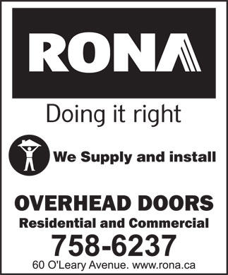 Rona (709-758-6237) - Annonce illustrée - We Supply and install
