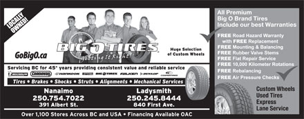 Big O Tires (250-754-7022) - Display Ad