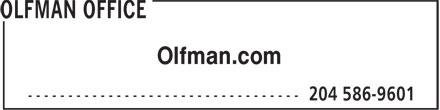 Olfman Office (204-586-9601) - Annonce illustrée======= - Olfman.com