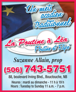 La Poutine A Lea (506-743-5751) - Display Ad