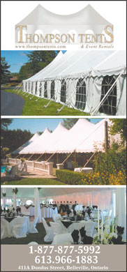 Thompson's Tents &amp; Party Supplies (613-966-1883) - Annonce illustr&eacute;e