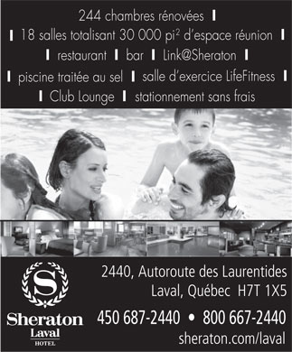 Sheraton Hotel (450-687-2440) - Display Ad
