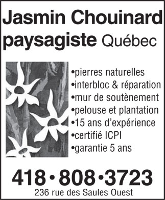 Paysagiste Quebec (418-808-3723) - Display Ad