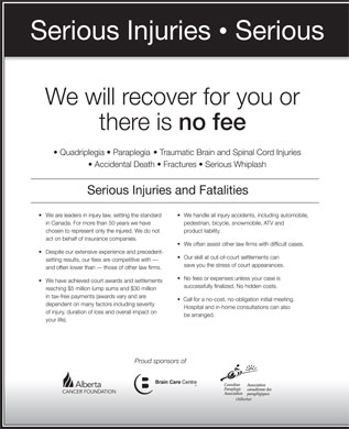 Cummings Andrews Mackay LLP (780-428-8222) - Display Ad