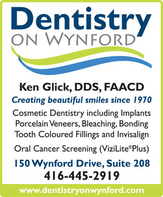 Dentistry on Wynford (647-497-6773) - Annonce illustr&eacute;e