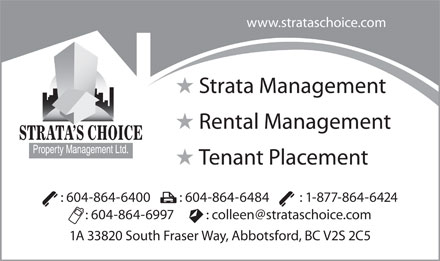 Strata's Choice Property Management Ltd (604-864-6400) - Annonce illustr&eacute;e