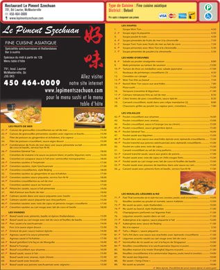 Restaurant Le Piment Szechuan (450-464-0009) - Display Ad
