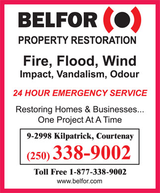 Belfor Property Restoration (250-338-9002) - Display Ad