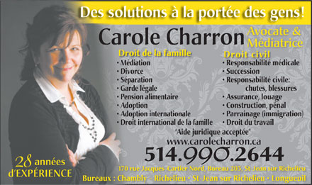 Charron Carole (514-990-2644) - Display Ad