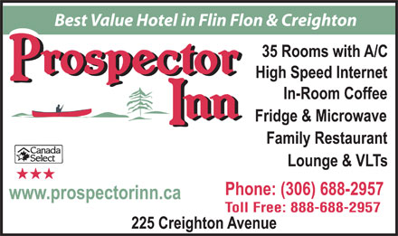 Prospector Inn (306-688-2957) - Display Ad