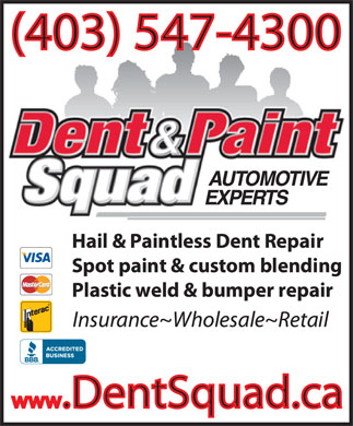 Dent Squad Ltd (403-547-4300) - Display Ad