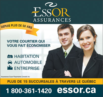 Assurance Essor Placements Conseils Inc (1-800-361-1420) - Display Ad