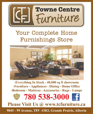 Towne Centre Furniture & Appliances (780-538-3000) - Display Ad