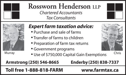 Rossworn Henderson LLP (250-546-8665) - Display Ad