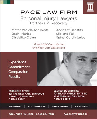 Pace Law Firm (647-495-8592) - Display Ad