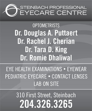 Steinbach Professional Eye Care Centre (204-326-3265) - Annonce illustrée