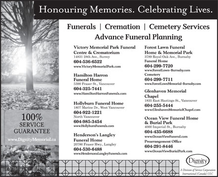 Victory Funeral Centre &amp; Memorial Park (604-536-6522) - Display Ad