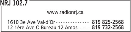 NRJ 102.7 (819-825-2568) - Display Ad
