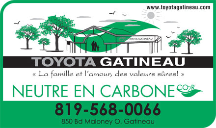 Toyota Gatineau (819-568-0066) - Annonce illustr&eacute;e - www.toyotagatineau.com