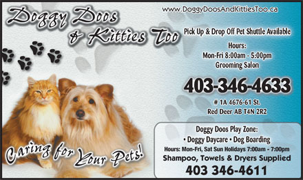 Doggy Doos & Kitties Too (403-346-4633) - Display Ad