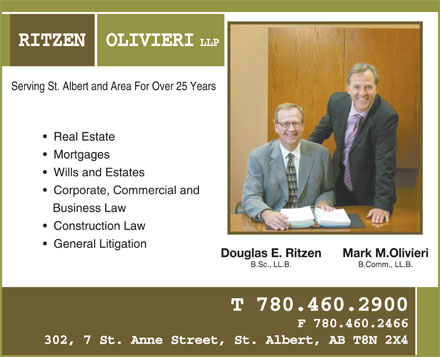 Ritzen Olivieri LLP (780-460-2900) - Annonce illustr&eacute;e