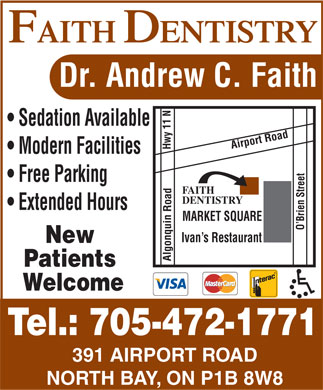 Faith Dentistry (705-472-1771) - Display Ad