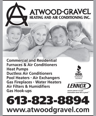 Atwood-Gravel Heating & Air Conditioning (613-823-8894) - Annonce illustrée