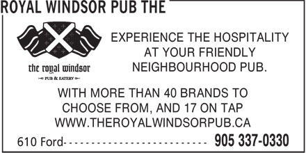 Royal Windsor Pub The (905-337-0330) - Annonce illustrée