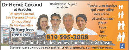 Dr Hervé Cocaud & Associés (819-595-3008) - Display Ad