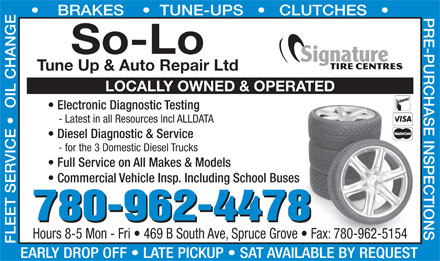 So-Lo Auto Repair (780-458-4144) - Display Ad