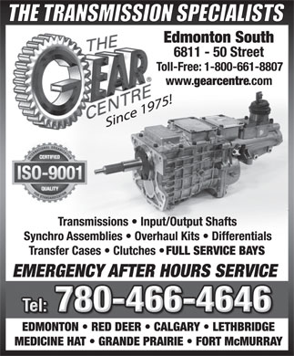 The Gear Centre (780-466-4646) - Display Ad