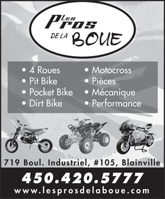 Les Pros de la Boue (450-420-5777) - Display Ad