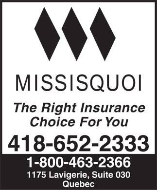 Missisquoi Insurance Company (The) (418-652-2333) - Annonce illustrée