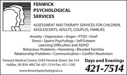 Fenwick Psychological Services (902-701-1323) - Annonce illustrée