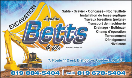 Excavation Lyndon Betts (819-200-2364) - Display Ad