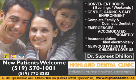 Highland Dental Clinic (519-570-1001) - Display Ad