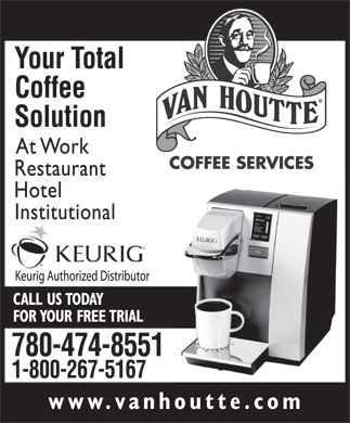 Van Houtte Coffee Services Inc (780-474-8551) - Display Ad