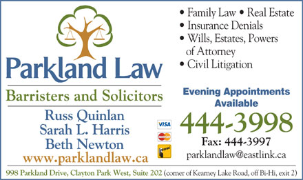 Parkland Law (902-444-3998) - Display Ad